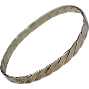 Mexican Sterling Silver Braided Bangle Bracelet