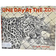 1960 One Day At the Zoo by Dick Snyder Art Photography Hardcover Book with Dust Jacket