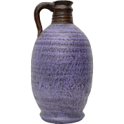 Mexican Purple Clay Pottery Jug or Vase Vessel