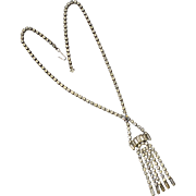 Fancy Baguette & Rhinestone Pendant Necklace