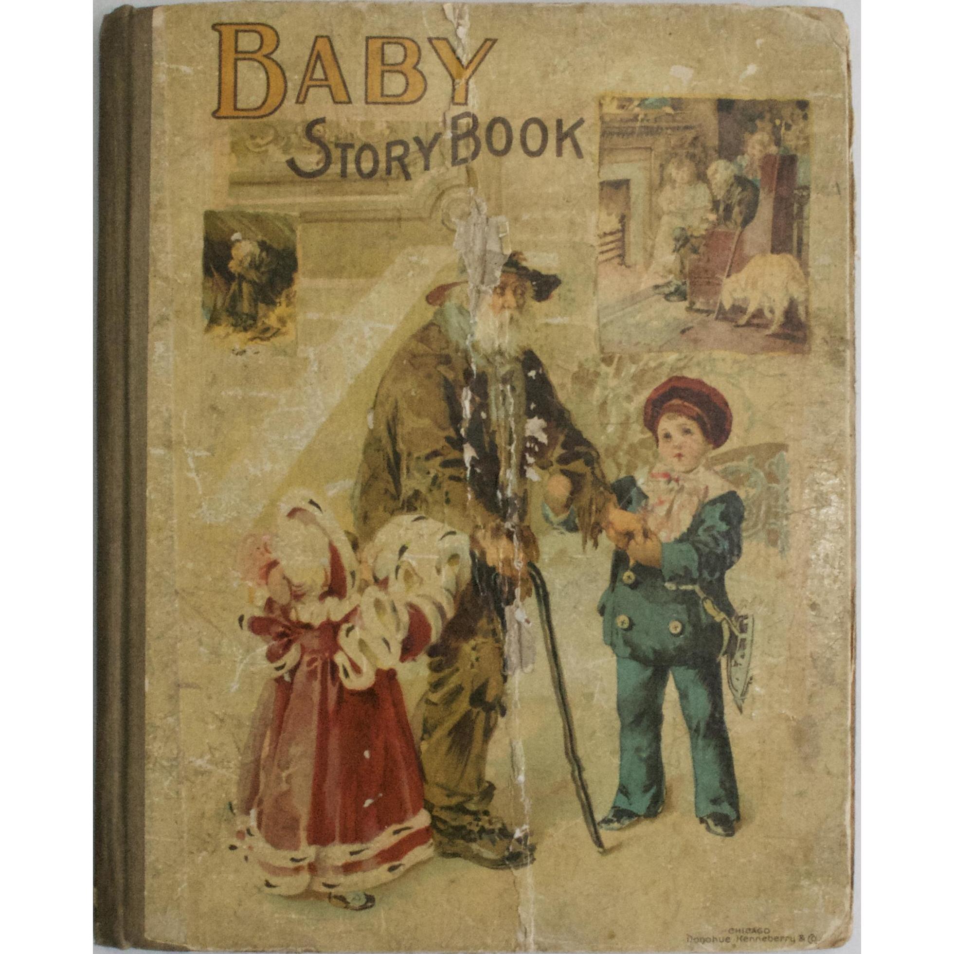 Rare Circa 1896 Baby Storybook Victorian Era Illustrated