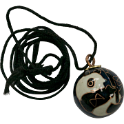 Enamel Cloisonne Chinese Panda Chime Ball Pendant Necklace