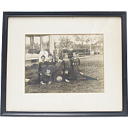 RARE Circa 1910 Girls' Basketball Team B&W 8x10 Framed Photograph