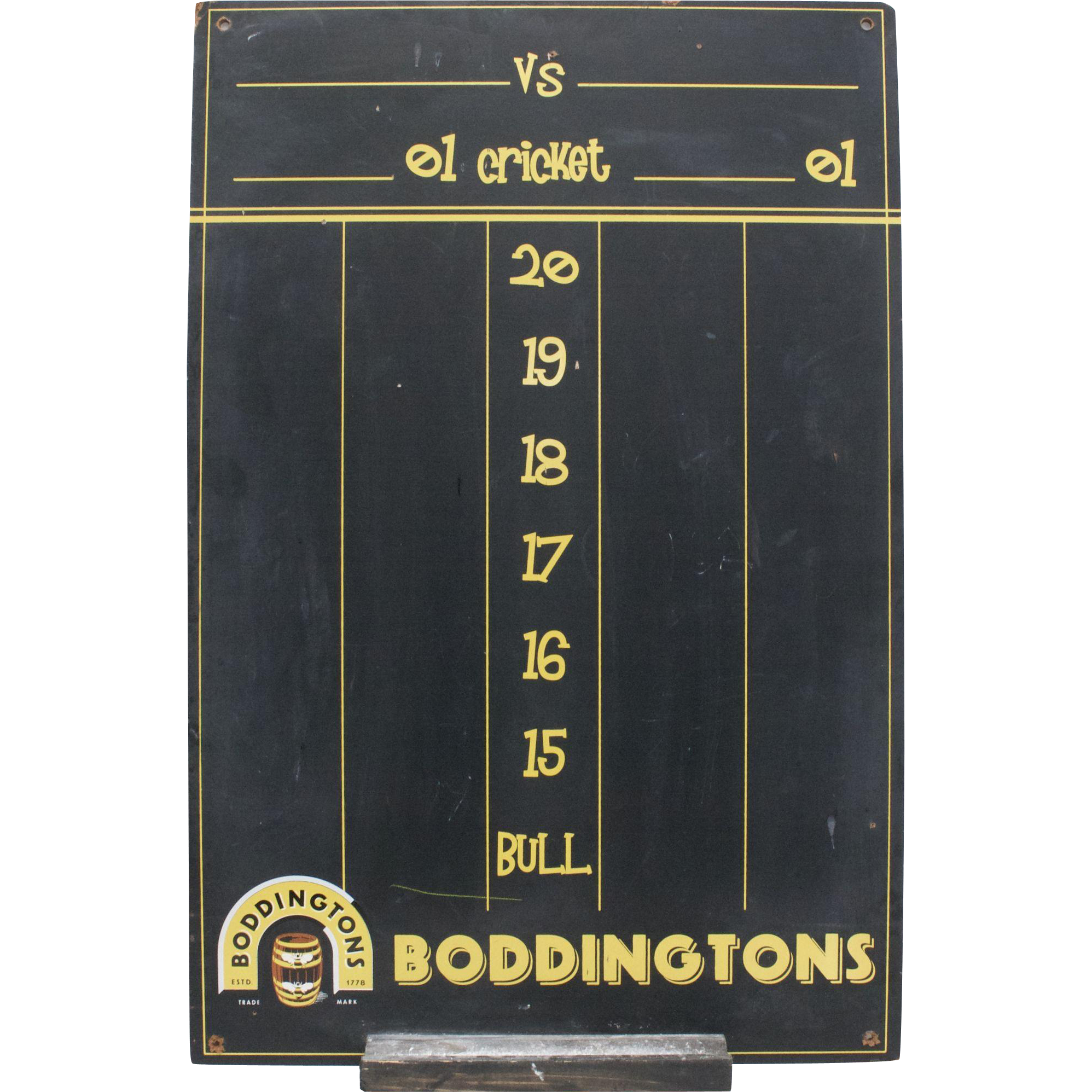 Boddington's Beer Ale Advertising Black Chalkboard Wall Decor