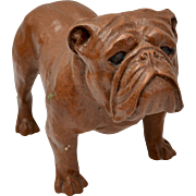 Red Mill Mfg. Handcrafted Composite Wood English Bulldog Figurine Sculpture