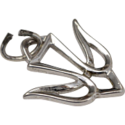 Signed Sterling Silver Religious Descending Dove Dangle Charm