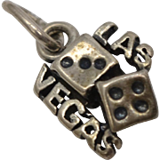 "Sterling Silver ""Las Vegas"" Rolling Dice Dangle Charm"