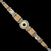 Wood Bead & Silver Bracelet