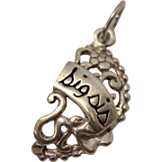 Sterling Silver Big Sister Dangle Charm