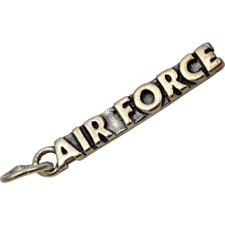 Sterling Silver Air Force Military Branch Dangle Charm
