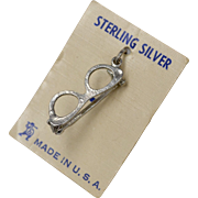 Sterling Silver Eye Glasses Dangle Charm