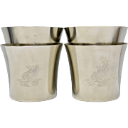 Royal Holland Pewter Large Tumbler Cups - Set of 4 w/ No Monogram