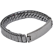 Elco Sterling Silver No Monogram Stretch ID Bracelet