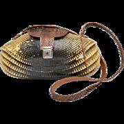 Genuine Armadillo Shell Purse w/ Original Lock & Key
