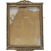 Chippy & Worn Silvery Gold Painted Art Deco 8 x 10 Wood Photo Frame