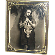 1920s Freulich ~ Gladys Walton w/ Doll ~ Framed 8x10 Photo