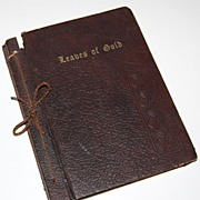 1952 Leaves of Gold ~ Inspirational Prayers & Verse Book