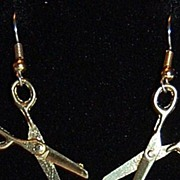 1970/80s Goldtone Scissor Earrings