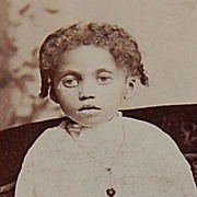 Victorian African-American Girl Photo Cabinet Card