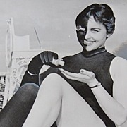 1959 Black & White Harlequin Lady ~ Promotional Photo