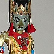 Vintage Javanese Wayang Golek ~ Theatre Rod Puppet