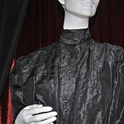 Victorian Black Silk Ladies' Blouse ~ Best for Study