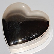 1970/80s Silverplated Heart Trinket Box