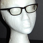 1960s Universal ~ Unisex Black Frame Eyeglasses
