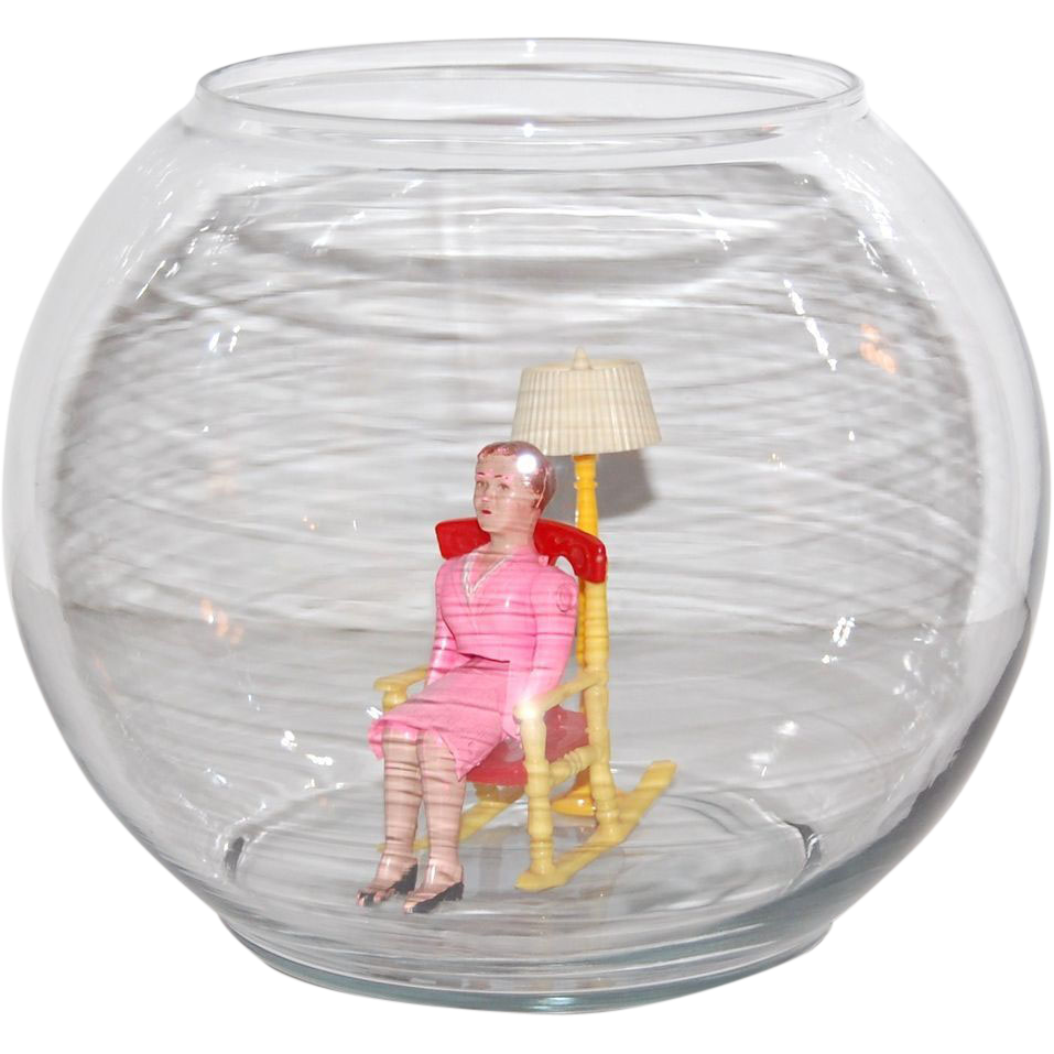 Indiana glass clear glass round globe fish bowl from for Fish in a bowl