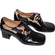 Franco Sarto ~ Calfskin & Black Leather Shoes