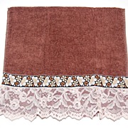 1970/80s Dundee ~ Chocolate Brown Lace Fingertip Towel