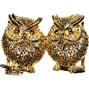 1960/70s Textured Owl Belt Buckle