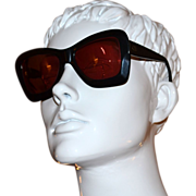 1980s Valentino ~ Black Asymmetric Sunglasses