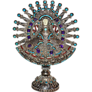 MATL ~ Sterling Turquoise, Amethyst & Coral Candelaria
