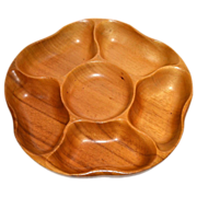 Monkeypod Wood Lazy Susan/Rotating Tray