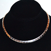 32G Italian Sterling Wide Omega Necklace