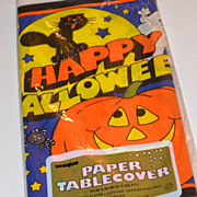 1988 Halloween Paper Table Cover/Tablecloth