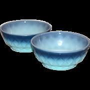 Anchor Hocking Fire King ~ Set of 2 Kimberly Pattern Bowls