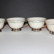 Flintridge China ~ Set of 4 Porcelain Cups