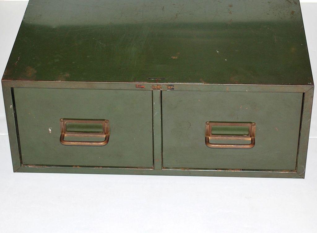 Grunge Green 2 Drawer Metal File Cabinet Black Widow Vintiques Ruby Lane