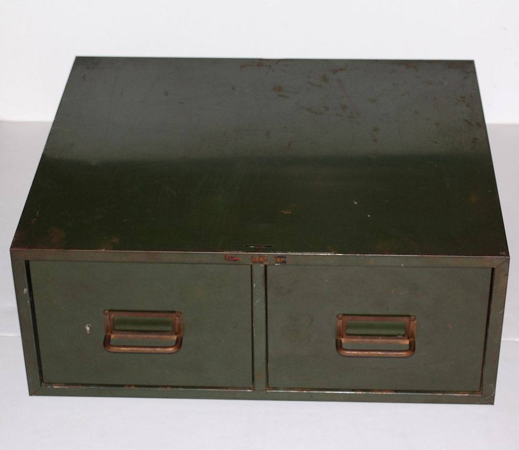 Green File Cabinet Industrial Grunge Green 2 Drawer Metal File Cabinet From