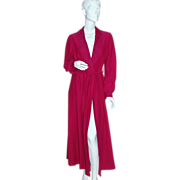 Shadowline ~ Long Fuchsia Purple Belted Robe