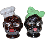 Disembodied Chef & Mammy ~ Black Memorabilia Salt & Pepper Shakers