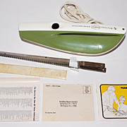1974 Hamilton Beach ~ Avocado Green Electric Knife w/ Original Box & Instructions