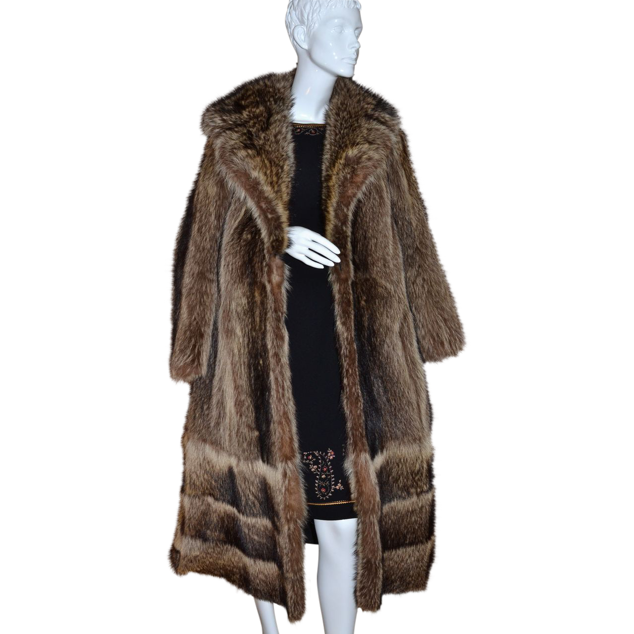 1960s Donald Brooks Boutique ~ Long Mink Fur Coat