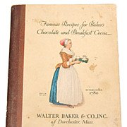 1928 Famous Recipes for Baker's Chocolate & Breakfast Cocoa Cookbook