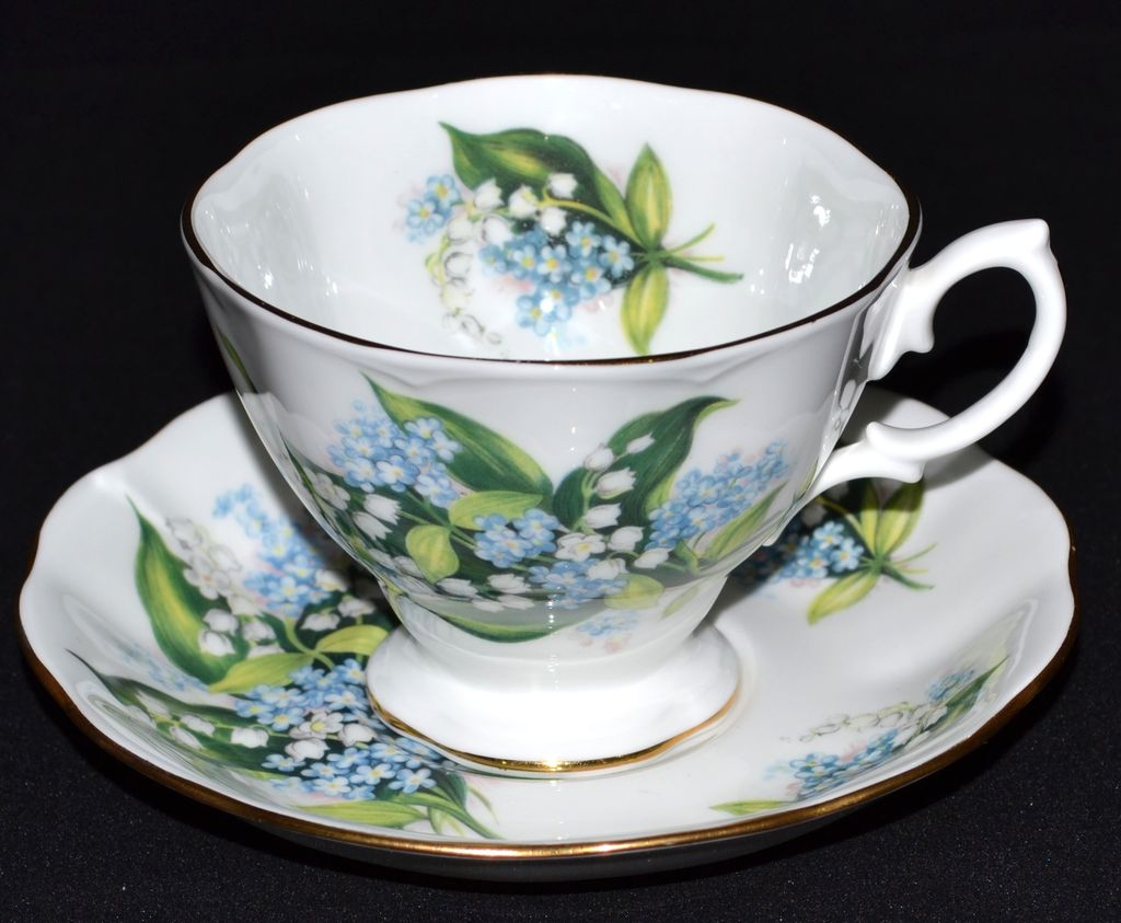 Royal Albert ~ Forget-Me-Not Porcelain Cup & Saucer