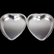 1950s Set of 2 West Germany Heart Aluminum Cake Pans