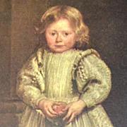 Van Dyck ~ Clelia Cattaneo, Daughter of Marchesa Elena Grimaldi Reproduction Art Print