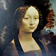 Leonardo Da Vinci ~ Ginevra De Benci Reproduction Art Print